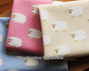 m65_45 - sheep fabrics - cotton linen fabrics - Half Yard ( 3 color )