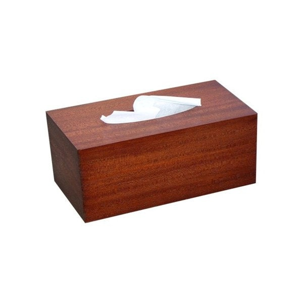 Wood tissue box cover antique mahogany from RJ Fine Woodworking. Tissue holder   Etsy
