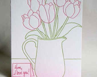 Mother's Day Tulips | Letterpress Card