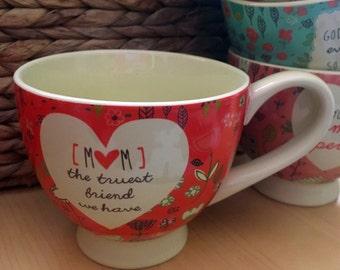 MOM - Coffee Mug, Tea Cup, Soup Bowl Gift - gift for Mom, Grandma, Nana