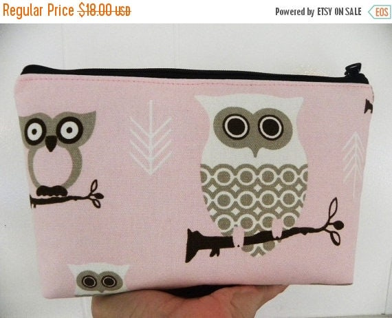Owls cosmetic Bag/Accessory Bag-Large