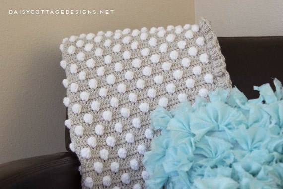 Daisy Cottage Designs Crochet Baby Blanket Pattern, Polka Dot Blanket Pattern, Easy Crochet Pattern