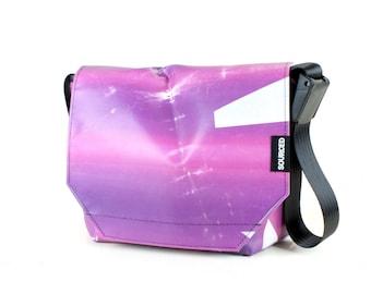 Messenger Bag made from Upcycled Truck Tarp, Water resistant Laptop Bag, Courier Bag, Satchel, Shoulder Bag (P05)