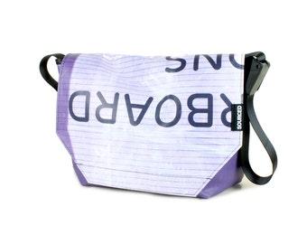 Large Messenger Bag made from Recycled Truck Tarp, Man Bag, Satchel Style Bag, MacBook Bag (57.04)