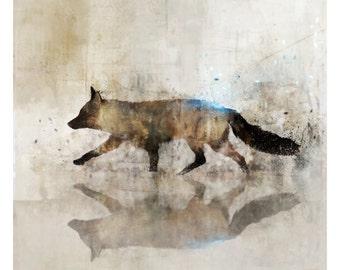 FOX WALK 02: Giclee Fine Art Print 13X19