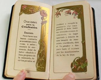 Antique Religious Prayer Books in Spanish - circa 1900 - Art Nouveau - Art Deco