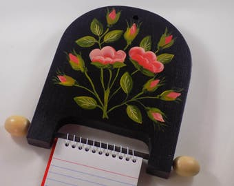 Floral Themed Memo Pad Holder