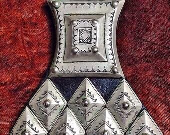 Large Tuareg Amulet 'Khomeissa' on Leather, Niger