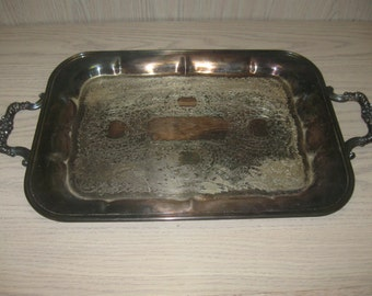 F B Rogers Silver Co 1883 Butler Serving Tray #1060 Silver Plate 1883-1955