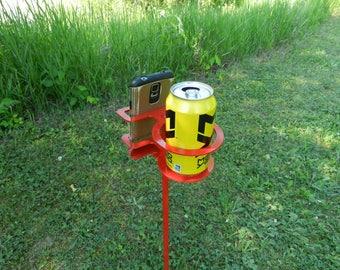 Outdoor Drink Holder - SET OF FIVE - Camping Drink Holder - Fishing Drink Holder