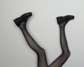 Black CREEPERS 90s PLATFORM Shoes MINIMAL Womens Size 8