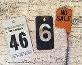 Lot of Vintage Grocery Store and Cash Register Numbers and Flags