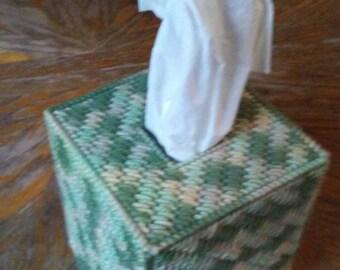 Desert Camo Plastic Canvas Tissue Box Cover