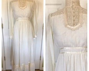 70s Gunne Sax Victorian Style Gown
