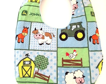 John Deere Baby Bib  - On the Farm