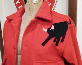 Vintage Wool Shirt - Wool Jacket - Philmont Bull Patch - Vintage Boy Scouts