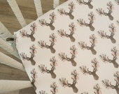 Crib Sheet- Deer Crib Sheet-READY to SHIP- Mattress Cover Deer Sheet- Girl Crib Bedding