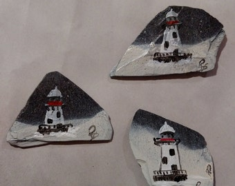 winter lighthouse magnets