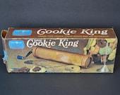 Vintage Cookie King Spritz Press Gun Decorator Crank Type Nordic Ware Aluminum Christmas Baking 9 Disks 1 Tip Snowman Star Dog Original Box