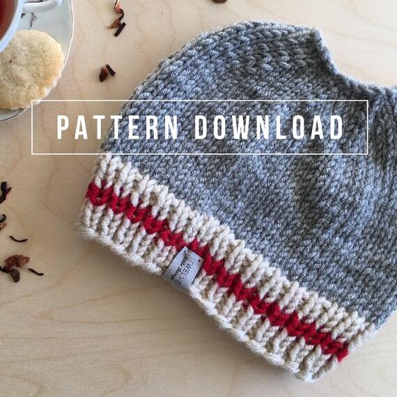 Work Sock Hat Knitting Pattern : Knitting pattern messy bun hat