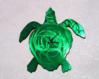 Clock, Sea Turtle Metal Art, Clock Art, Outdoor Metal Wall Art, Metal Wall Art, Outdoor Metal Art, Beach Decor, Beach House Decor