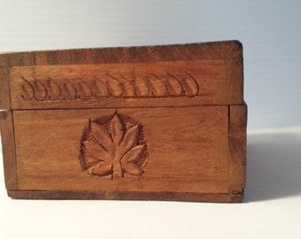 rustic handcarved wooden box | vintage sheesham hand carved wooden box | trinket box | vintage wooden storage | india sheesham wooden box