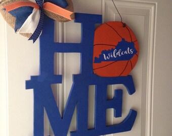 Kentucky wildcats door hanger HOME basketball