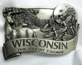 Wisconsin Collectible: Western-Style Belt Buckle by Bergamot