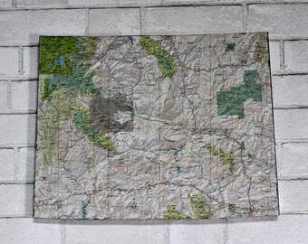 WYOMING State Map Wall Art (Medium size)