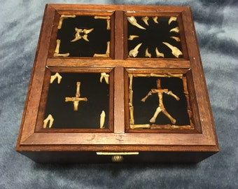 Blair witch inspired jewelry keepsake box inverted cross
