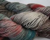 Rustic Meadow-Merino Blend Handdyed Sock Yarn