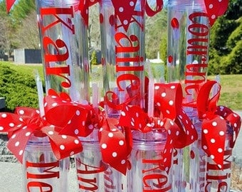 Custom Personalized Tumbler, Bridal Party Gifts, Wedding Cup, Maid of Honor Gift, Tumbler, Personalized Acrylic Tumbler
