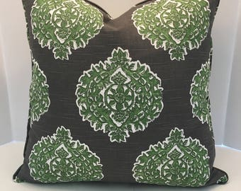 Decorative Pillow Cover in Floral Jade includes pipimg