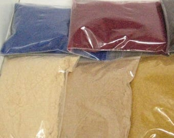 flocking powder half ounce weight 23 colors pink blue gray black yellow purple white orange red green brown tan beige