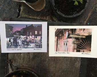 Vintage large post cards Classic cards for classy people New Orleans