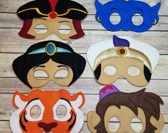 Aladdin Mask Set Party Favor Dress Up Pretend Play