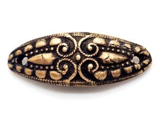 Bronze Bracelet Connector Link Focal with Antique Finish