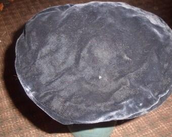 vintage ladies hat black velvet tam bergdorf goodman