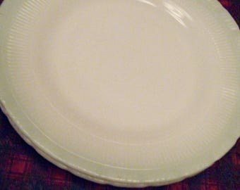 "Two Jane Ray 9"" Jadeite Plates// Fire King Anchor Hocking//Vintage Luncheon"