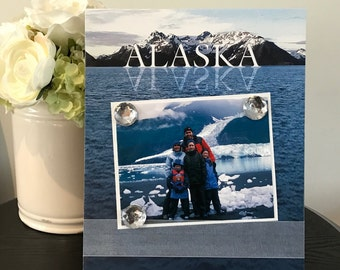 Alaska Picture Frame Magnetic Gift Home Decor Photo 5 x 7 9 x 11 Cruise Travel Vacation Family Adventure Memories -Alaska Cruise Glacier Bay