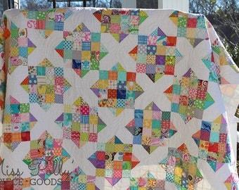 Baby Crib Bedding- Patchwork Quilt- Modern Quilt- Custom Quilt- Crossroads Quilt