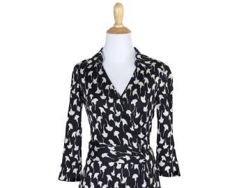 Not-Quite-Vintage DVF Silk Wrap Dress