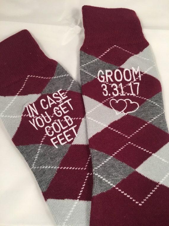 Groom Socks - Burgundy - Maroon - Wine Red - Groomsmen Gift - Monogram Socks - Mens Dress Socks - Wedding Party Gift - Wedding Socks OHiHnH4Z