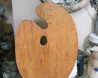 Vintage Artist Wood Palette