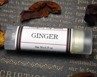 NAUGHTY Ginger Lip Balm - Erotic Lip Balm for Your Naughty Bits - Ginger Oil and Menthol
