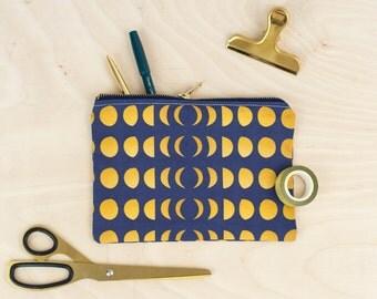 Moon Phase Zip Bag