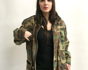Vintage Army Coat Camo Jacket