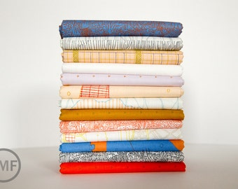 Friedlander Warm Breeze Fat Quarter Bundle, 13 Pieces, Carolyn Friedlander, Robert Kaufman Fabrics, 100% Cotton Fabric, AFR