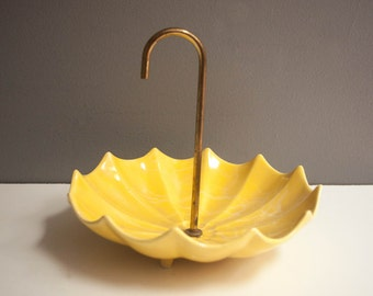Mid-Century Footed Umbrella Candy or Trinket Dish