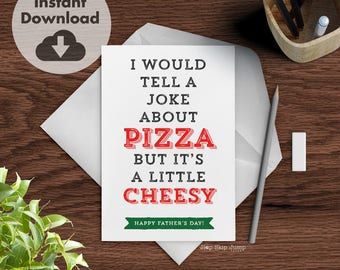 Funny Dad Joke Card, DIY Printable Father's Day Card, Instant Download Card for Men, Funny Greeting Card
